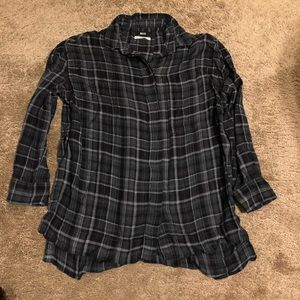 Urban outfitters grey plaid swing top